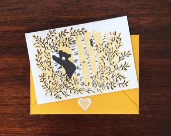 Bear in the Branches Mini Note Set (box of 6)