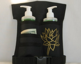 Made to Order - Double/4 Pocket Massage Oil Holster, RIGHT Hip, Any Color, Any Hand Painted Design