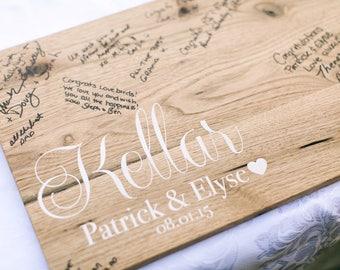 Wooden Sign - Wedding Guestbook - Custom Wedding Guestbook - Wedding Decor