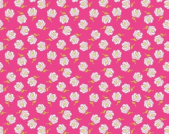 Primavera Buds in Pink Cotton Fabric by Patty Young for Riley Blake