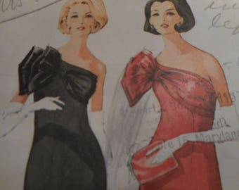 Vintage 1960's McCall's 7549 Pauline Trigere Evening Dress Sewing Pattern Size 16 Bust 36