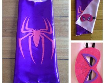 Spidergirl Cape & Mask Set
