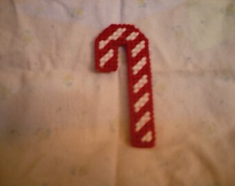 Plastic Canvas Pattern Candy Cane Ornament Instant Download