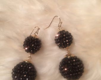Lulu beaded ball earrings