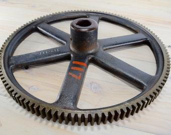 Cast Iron Wheel,Cast Gear, machine Gear, Steampunk, Large Quantity, table base