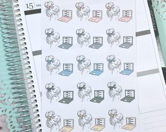 Laptop Planner Stickers, Design Stickers | Girly Shop Neutral