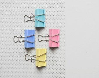 4 couleurs pastel bouche pince foldback document clip de rose C004 jaune bleu vert à la menthe