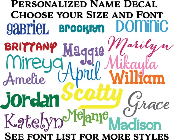 Bottle Name Decal Tumbler Name Decal Name Sticker - Custom vinyl decals for tumblers