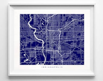 Indianapolis Map, Indiana Print, Indianapolis Poster, Indiana Art, Artwork For Kitchen, Arty Print, Giclee, Street Art, Fathers Day Gift