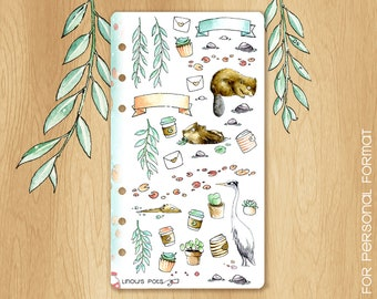 MAY 17 - Watercolor Stickers Perfectly Fitting Your Kikki.K medium or Filofax Personal For Spring Times : Illustrations