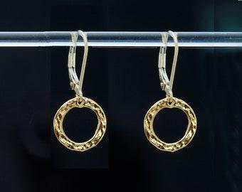 Gold Hoop Earrings, Simple Gold Earrings, Every Day Earrings, Gold Earring Small Hoop, Gift for Her, Gift for Mom, Bridesmaid Earrings
