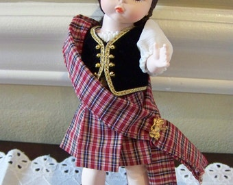 Scot Lass (with argyle socks) Madame Alexander 8 inch doll yes arms!