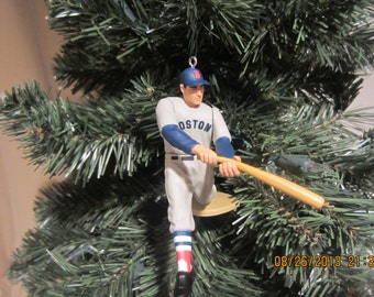 Carl Yastzremski  or Ted Williams SEE DESCRIPTION Red Sox custom baseball christmas sports ornament many to choose from.
