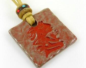Aztec Ceramic Pendant