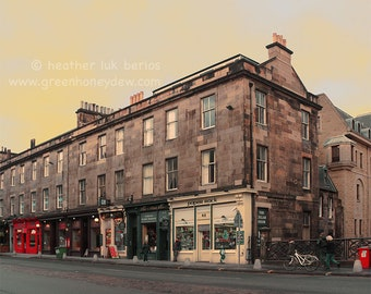 Edinburgh Colourful Shop Facades on George IV Bridge Photography - Wall Decor - Fine Art Photography Print
