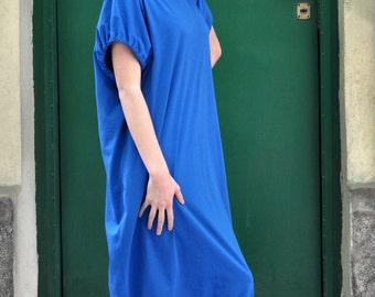 Casual Summer Dress in Blue / Casual Loose Tunic / Maxi Tunic