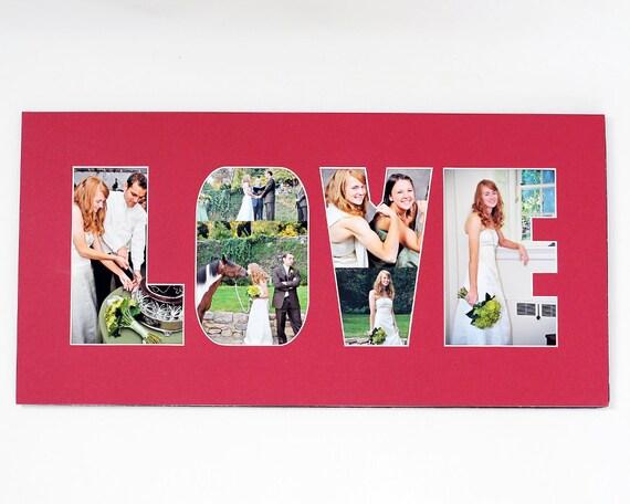 Word / Phrase Photo Mat - Personalized Custom Cut Matting - Frame ...
