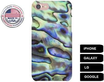 Abalone Phone Case, Phone Case Abalone,  iPhone 5 Case, iPhone 5S Case, iPhone 6 Case, iPhone 7 Case, Galaxy A5 Case, Galaxy S7 Edge Case