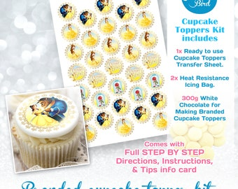 Cupcake and Oreo Topper Chocolate Transfer Kit, Cupcake Decoration, PawPatrol, Princess, Animals, Spiderman, Emoji, Theme birthday