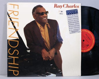 Ray Charles - Friendship - Vintage Vinyl LP Record Album 1984 with Country Guest Artists
