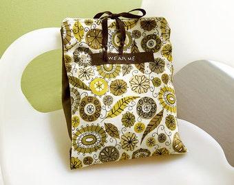 Travel Underwear Bag, Printed Linen