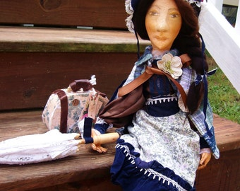 Art Doll, OOAK Soft Sculpture, Jane Eyre