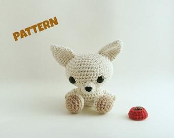 Chihuahua Pattern, Amigurumi Pattern, Crochet Pattern, Crochet Animal Pattern, Crochet Chihuahua, Kids Toy Pattern, Amigurumi Chihuahua