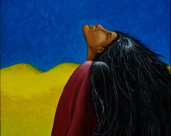 She Dreams Raven- Native American Series-Honoring Mother, LIMITED Edition print, artist Schar Freeman, 2/25