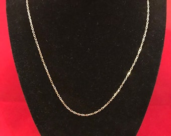 14 K, yellow gold chain necklace