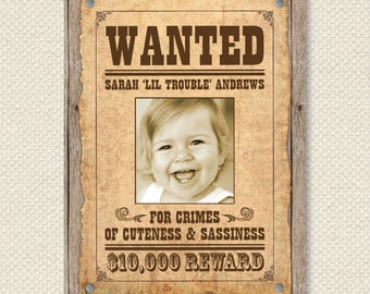 custom wanted poster - wild west