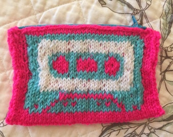 Cassette Tape Zippered Pouch