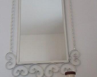 Mid Century Metal Scrollwork Mirror Retro 1960's