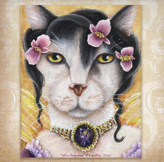 Begonia Fairy Cat 8x10 Fine Art Print