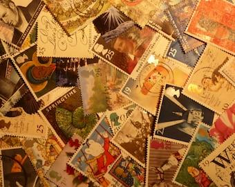 British postage stamps UK postage stamps 1990's scrapbooking supplies