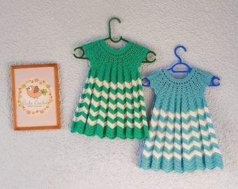 Crochet Chevron/Zig Zag Dress for Toddler