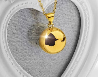 Harmony Ball FREYA Gold 20mm Bola Ball Pendant & Necklace - Pregnancy Maternity Mexican Angel Caller Mum to Be