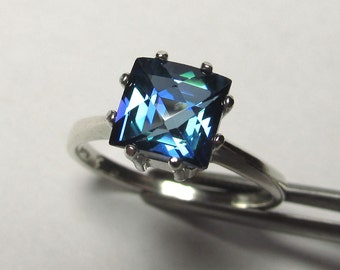 Brilliant Neptune Garden Genuine Topaz in Sterling Silver Ring