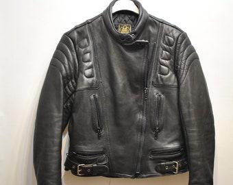 Vintage LEATHER MOTO JACKET , women's motorcycle jacket ...........(666)