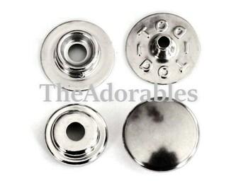 4sets--Heavy Duty, Snap Button Fastener , Nickel Color (B60-17)