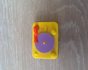 Gum fashion or home decor miniature record player