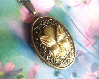 Photography Golden Butterfly Necklace