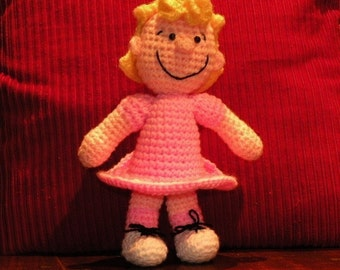 INSTANT DOWNLOAD - PDF - Sally Brown from Peanuts - amigurumi doll crochet pattern