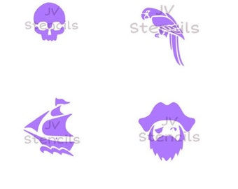 Pirate Theme Stencil-4 images