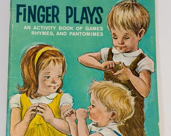 Finger Plays, Activity Book, Golden Book, 1964 soft bound children's book, Adelaide Holl, soft cover