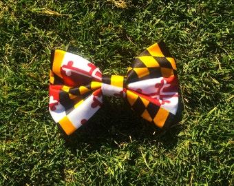 Maryland Flag Hair Bow