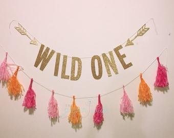 Wild One Banner, Wild One Birthday, 1st birthday banner, 1st Birthday Decorations, Wild One, Wild One Birthday, Wild One Decorations