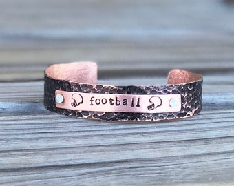 Football Mom Bracelet, Football Fan Bracelet, Unisex Football Bracelet, Personalized Football Mom Gift Ideas, Football Grandma Bracelet Gift