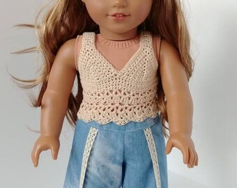 Fits like American girl doll clothing .18 inch doll clothing. 18 inch doll clothes. Pants