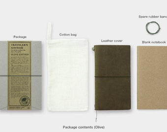 Travelers Notebook Olive Color Regular - IN STOCK