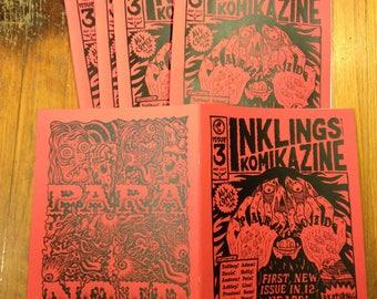 NEW INKLINGS komikazine!!! (comic zine) 12 artists screen printed cover